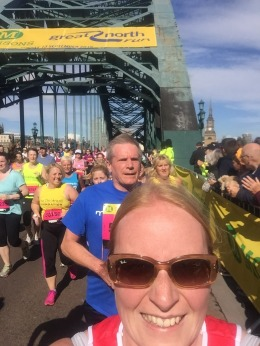 Tyne Bridge and Runners